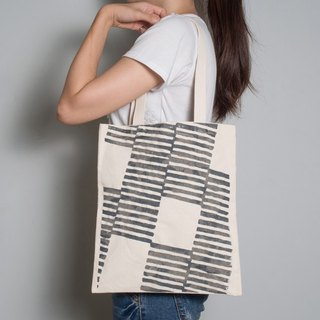 Hand-painted handprints Peibu bag [Zebra] single / double hand / shoulder gray / blue and red