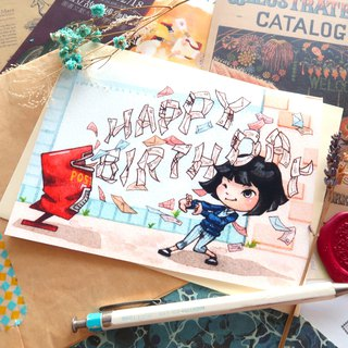 【Pin】Mail Bomb│Print│Birthday card with envelope at your choice