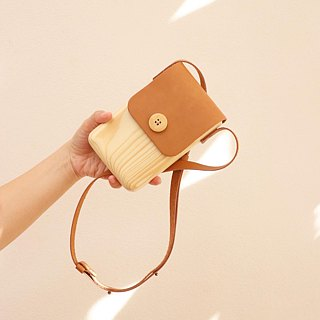 木頭手機包 Wooden bag for mobile from real wood
