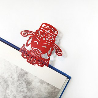 MARK TAIWAN Mai Mai Festival - Wenchang Imperial metal bookmark - red