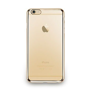 iPhone 6s Plus - metal light through a sense of protective soft cover - shining gold