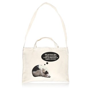 Cat style stretching horizontal canvas bag