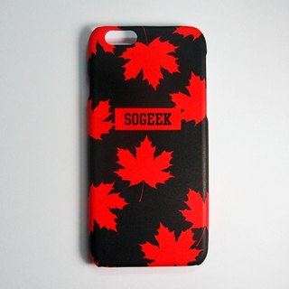 SO GEEK phone shell design brand totem Maple THE MAPLE LEAF GEEK subsection (red)