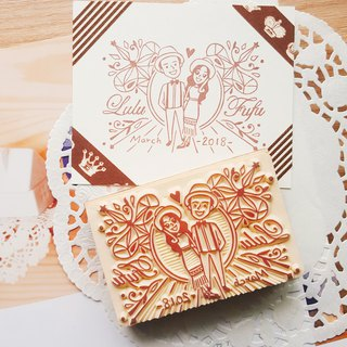 Red Warm Hand Handmade Rubber Slips | My Queen Gorgeous Wedding Chapter 6x9cm