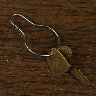 Vintage Stainless Steel Key Ring- retro gourd-shaped stainless steel key ring