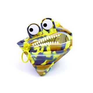 (5 fold out of clearance) -Zipit monster zipper bag camouflage series (small) - camouflage yellow