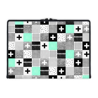 Axis - Custom 3-Sided Zipper Laptop Sleeve - Squares 002