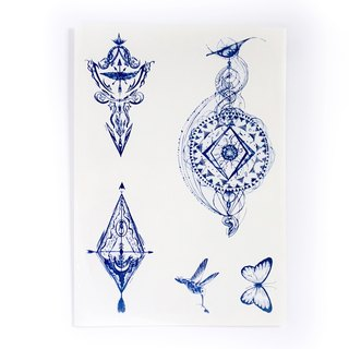 LAZY DUO Artistic and Realistic Temporary Tattoo Stickers { SET 11 }