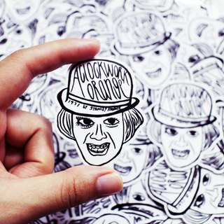 "Movie ""A Clockwork Orange"" Alex Stickers 2pcs"
