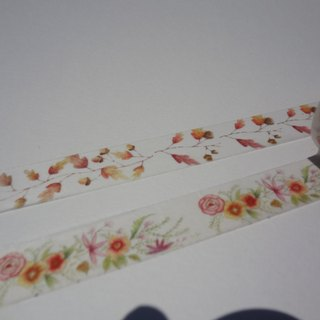Hand-painted watercolor paper tape ~ autumn series set 2