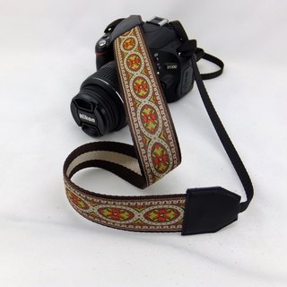 Camera strap can print personalized custom leather stitching national wind embroidery pattern 026