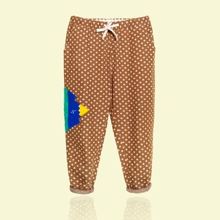 [] Innocent last thing Mr. Waitoushan / coffee milk little wide pants