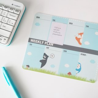 【OSHI】Double Layer Mouse Pad-Weekly plan (PLAY)