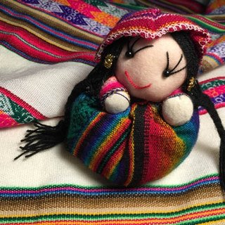 Peruvian indigenous women doll ornaments