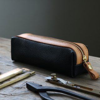 <隆鞄工坊>Gentleman 2.0-Pen Bag/Pencil Box/Storage Bag (Black)