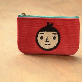 [BestFriend] waterproof canvas purse (red - Boys head)