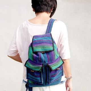 After weaving feel backpack - Magic violet - in