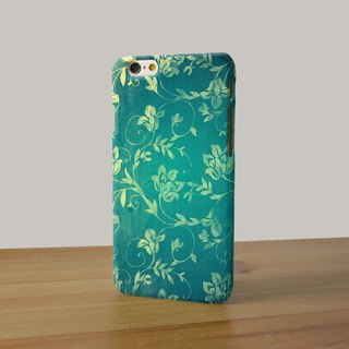 Flower pattern aqua green leaves 17 3D Full Wrap Phone Case, available for  iPhone 7, iPhone 7 Plus, iPhone 6s, iPhone 6s Plus, iPhone 5/5s, iPhone 5c, iPhone 4/4s, Samsung Galaxy S7, S7 Edge, S6 Edge Plus, S6, S6 Edge, S5 S4 S3  Samsung Galaxy Note 5, Not