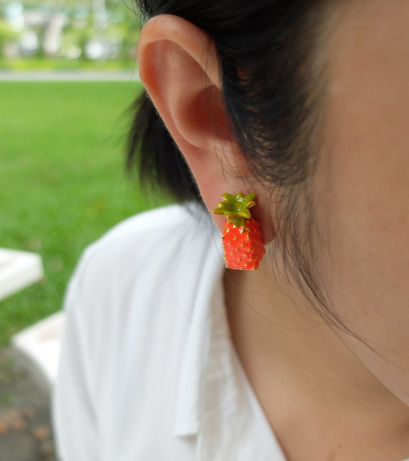 Glorikami Orange Pine apple earrings