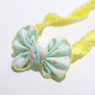 Fenfen little baby headband (pink yellow lines)