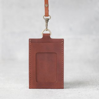 Light brown leather ID card case