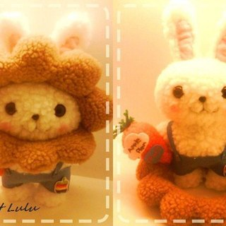 RABBIT LULU ☆ [RPG. Superman rabbit doll] Bear pig frog rabbit lion pure hand-sewn custom models