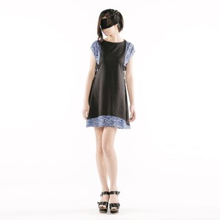 [Dress] side of the arc Dresses < black + purple / gray + blue color x 2 >