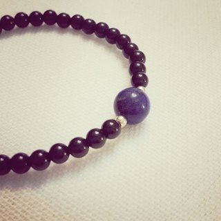 MH sterling silver natural stone custom series _ earth eyes _ lapis lazuli _ black agate