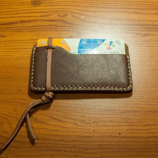 Absolutely stuck - hand-stitched leather card holder / MRT Easy Card holder / card holder / purse