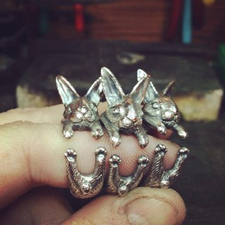 Sterling Silver Rabbit Circle Ring