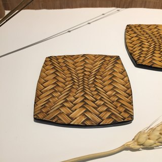 Hand-made bamboo coasters