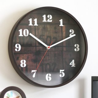 Old Time Slient Wooden Wall Clock