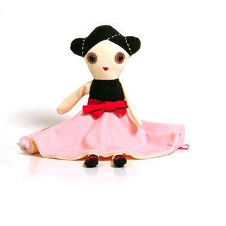 Dutch esthex handmade sewn safety material music bell ballerina Anna collection doll