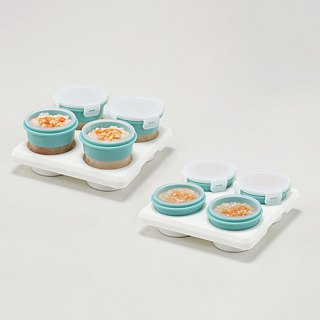 2angels silicone baby food storage cup sets_value pack(60ml + 120ml)