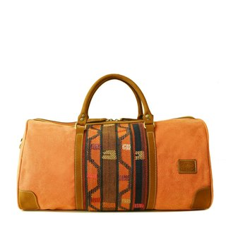 [Happa] simple fashion bag - suede short put - hand-knotted kilim paragraph (Rust rust orange)
