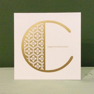 Bronzing letter card envelope sticker group -C