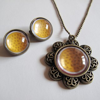 Warm passion fruit necklace ear clip ear acupuncture group