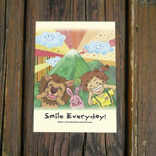 Smile Everyday / positive energy postcard *