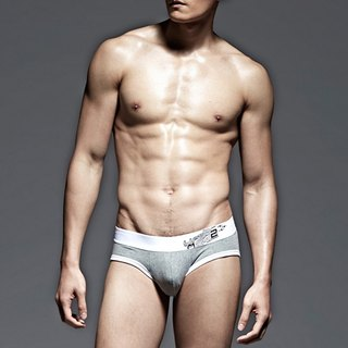 UNDERNEXT2 classic gray low-waist briefs