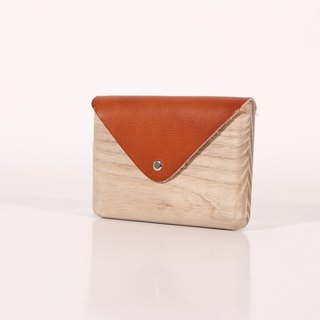 Wooden Cardholder (Orange)
