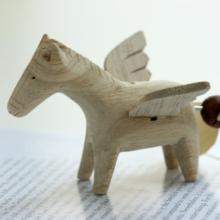 Small handmade wooden doll Wooden Flying Horse Pegasus decorations