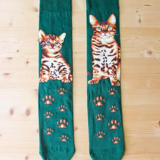 JHJ Design Canada brand series of high-saturation knitting socks cat Bengal leopard cat (male) cute kitty cat