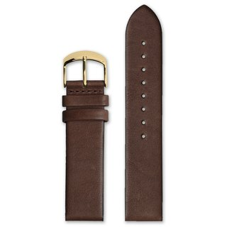HYPERGRAND Leather Strap - 22mm - Brown Calfskin (Gold Button)