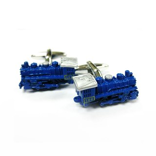Train Cufflinks - Blue Train Cuffink