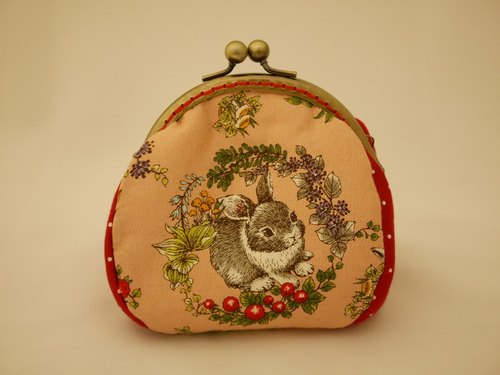 Forest picnic rabbit mouth gold purse