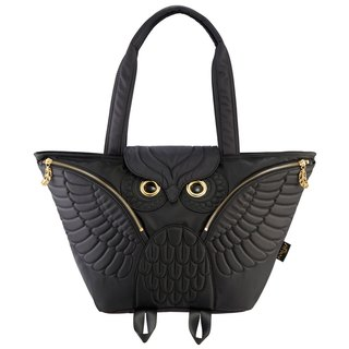 Morn Creations Genuine Owl Tote (Can be Mom Pack) - Black (OW-401-BK)
