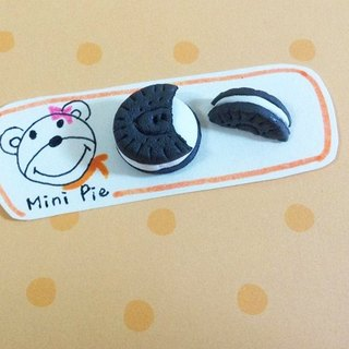 OREO biscuit earrings (ear clip-on can be changed) ((over 600 were sent mysterious little gift))