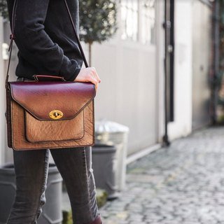 Celia British hand leather briefcase / small bag