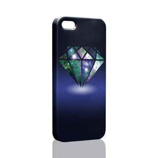 Rock Diamond (Blue) iPhone X 8 7 6s Plus 5s Samsung note S7 S8 S9 plus Mobile Shell Case