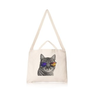 Meow cultural and creative universe wind horizontal canvas bag